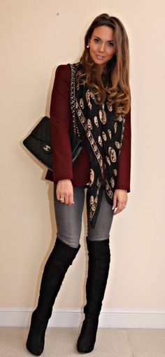Head over heels with over the knee boots
