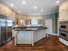 Kitchen. For more photos of this North Carolina 1907 Neo-Classical Revival. ---- http://www.captivatinghouses.com/2018/04/20/north-carolina-1907-neo-classical-revival/