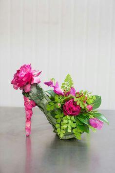 Floral shoe centerpiece