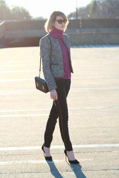 Cute skinny jean, heels and jacket