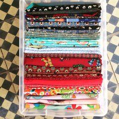 Caixa de tecidos organizada!