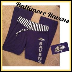 Ravens Lounge Pants Super comfy Baltimore Ravens Lounge Pants. Good condition. Great for laying around the house on game day! 90% cotton 10% polyester. Nfl Team Apparel Pants