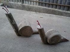 Parquinhos de madeira, tronco, plástico e fibra - World Park Playground.