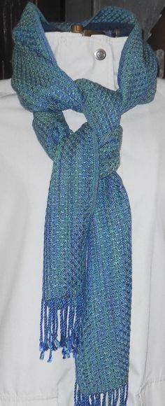 Green Tencel Handwoven Scarf for Men or Women by LuCook on Etsy, $68.00