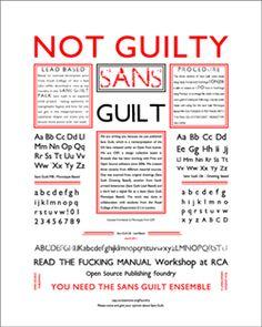 Typeface inside jokes. Sans Guilt