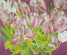 Bedroom Tulips 66in x 76in by Helen Lucas