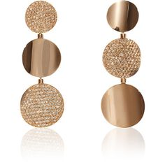 Sabbadini 18K Pink Gold Pavé Brown Diamonds Earrings ($24,000) ❤ liked on Polyvore featuring jewelry, earrings, chocolate diamond earrings, 18k rose gold jewelry, chocolate diamond jewelry, pink gold earrings and rose gold earrings