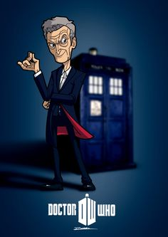 Twelfth Doctor by Wolfgun (Randall Reis Zacarias) Doctor Who 12, Doctor Who Fan Art, Twelfth Doctor, Geronimo, Dr Who, Cry Like A Baby, Peter Capaldi, Torchwood, Music Tv