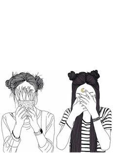 art, meilleur, noir et blanc, cactus, dessin, favori, amis, grunge, cheveux, tristement, style