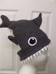 Diy Sewing Projects cute hat for boys at skating party - Shark Attack Hat: Get warm with a cool and scary shark attack hat. This lined hat is fairly simple, and is sure to be the coolest hat out there! Sewing Basics, Sewing Hacks, Sewing Crafts, Sewing Tips, Sewing Ideas, Baby Sewing Tutorials, Halloween Sewing Projects, Basic Sewing, Dress Tutorials