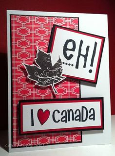 by HamiltonGal - Cards and Paper Crafts at Splitcoaststampers July 1, Fourth Of July, Canada Day Crafts, Small Flags, Canada Images, Canada Eh, Card Making Inspiration, Acrylic Paintings, Treat Bags