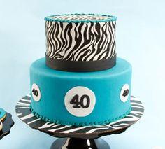 40th Birthday Zebra Cake