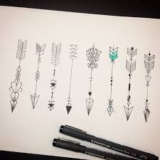 Afbeeldingsresultaat voor arrows tattoo