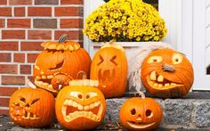 fall scenery wallpaper with pumpkins - Google Search