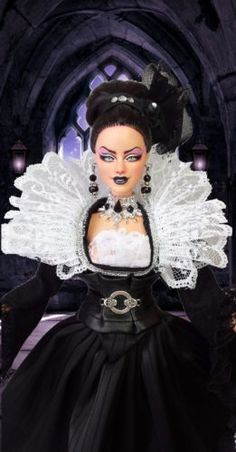 BARBIE-Collector-MUSE-GOTHIC-SYBILLA-OOAK-REPAINT-DOLL-By-IMPERIALIS