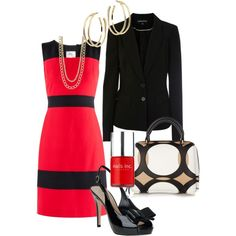 """Work Outfit"" by tajarl on Polyvore.  I can totally see me wearing this to work."