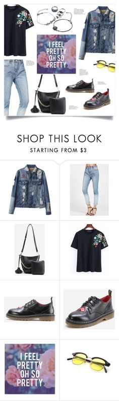 """""""Feel Pretty"""" by mahafromkailash ❤ liked on Polyvore featuring floral, denim, heart, embroidered and shein"""