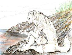DeviantArt: More Like Sketch Commission - Quiet Contemplation by jocarra Wolf Character, Anthro Furry, Furry Art, Werewolf, Lion Sculpture, Cool Art, Deviantart, Fantasy, Drawings