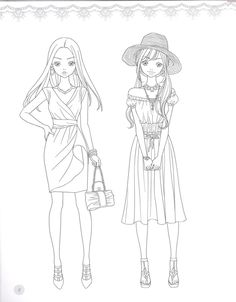 Fashion Coloring Page. source: preview.kyobobook.co.kr. 소녀룩 패션코디 컬러링북 - 인터넷교보문고