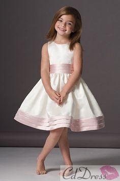 Flower Girl Dresses - light purple trim.