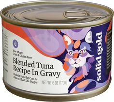 Solid Gold New Moon Blended Tuna Recipe in Gravy Grain-Free Canned Cat Food, 6-oz, case of 24