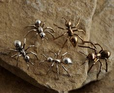 Large Bronze Ant Pin Scatter Pin Statement by TafSchaeferDesign, $40.00