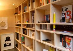 Noma Barr Studio, plywood shelves with moveable dividers
