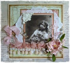 Vintage card with image from Pion Design and papers from Riddersholm Design by DT Member Tina Klix.