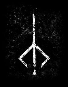 tattoos - Hunter's Mark new Poster Mark Tattoo, Rune Tattoo, Soul Tattoo, Norse Tattoo, Viking Tattoos, Cool Symbols, Wiccan Symbols, Viking Symbols, Viking Runes