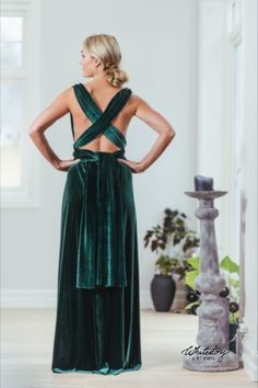Whitestory & Friends own wrap velvet dress in dark-green w/ separate top. Perfect as a bridesmaid dress. Shipping worldwide Tailor Scissors, Green Velvet, Suits You, Body Shapes, Different Styles, Style Guides, Separate, Wrap Dress, Bridesmaid Dresses