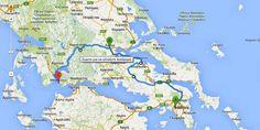 Υπολογισμός διαδρομής σε Χάρτη (οδήγηση, πεζοπορία κλπ)