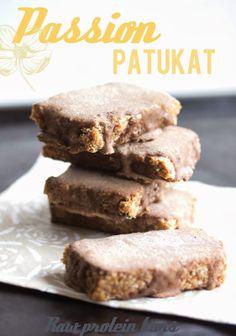 Easy Passion Fruit Protein Bars - Proteiinijauheista ja helpot passion-patukat (Raw) | Keittiökameleontti