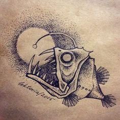 Boat Drawing, Ship Drawing, Octopus Art, Fish Art, Fish Drawings, Animal Drawings, Tattoo Sketches, Drawing Sketches, Owl Tattoos