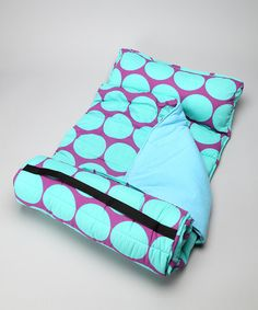 Take a look at this Aqua Big Dot Nap Mat by Wildkin on #zulily today!