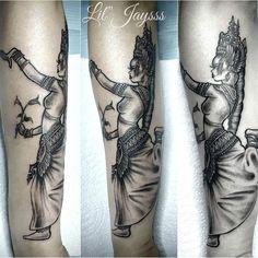 Apsara tattoo by Lil'Jaysss Cambodian dancer