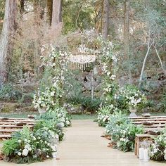Our beautiful ceremony situated in a natural forest setting. @josevilla @lisavorce #meadowwood
