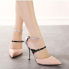 Patent Leather Women's Stiletto Heels Pointed Toe Pumps/Heels Shoes(More Colors) – USD $ 47.99