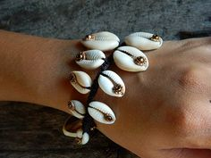 Ladies Ethnic Charm Cowrie Shell Bracelet by tribe7 on Etsy, $24.99