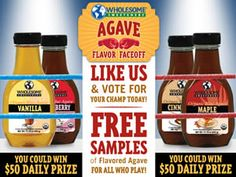 FREE Flavored Agave Sample on http://www.icravefreebies.com