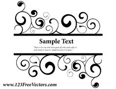 Vector Ornate Swirl Banner | Download Free Vector Graphic Designs | 123FreeVectors