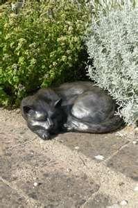 Angel Cat Memorial Garden Statue Sculpture Loyal Pet Outdoor Yard