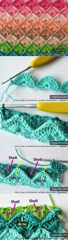 lovely crochet shell stitch