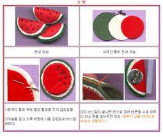 !!!!♥ Feltro-Aholic ♥ Moldes e pap em feltro e feltro estampado!: pap broche de melancia feita de feltro fácil com fotos