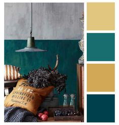 Sélection H&M Home - bleu canard - POM & GUS - julia. Bedroom Color Schemes, Bedroom Colors, Colour Schemes, Colour Palettes, Pantone, Wall Colors, House Colors, Interior Paint Colors, Interior Design