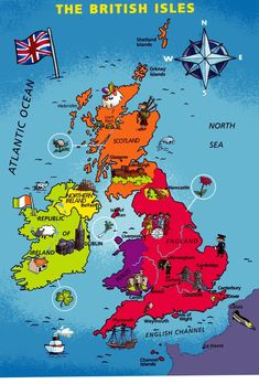 TOUCH esta imagen: UK Map by A happy ThingLink User