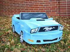 Cardboard Mustang Costume