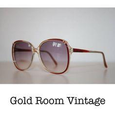 0000e4bbeab8c SALE Vintage 80s Oversized Sunglasses    Rose    Tinted    Óculos De Sol