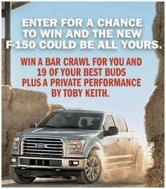 Toby Keith Good Times & Pickup Lines Sweepstakes! one entry per person ends 3/31/16