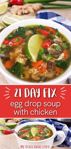 This 21 Day Fix Egg Drop Soup is an easy healthy dinner recipe that the whole family will enjoy! The chicken and egg in this soup recipe make it a protein packed meal that is hearty and delicious! #21dayfix #FIXapproved #21df #21dfe #21dfx Easy Healthy Dinners, Healthy Dinner Recipes, Crockpot Recipes, Soup Recipes, Beachbody Meal Plan, 21 Day Fix Meal Plan, Egg Drop Soup, Warm Food, Meal Planning