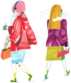 Ladies of summer illustrations by Ping Zhu